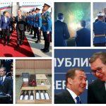 PARADA, RAZGOVORI, POKLONI, PA VEČERA Evo kako je izgledala poseta ruskog premijera Medvedeva u SLIKAMA