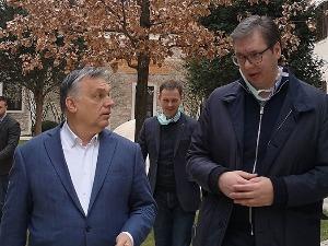 Vučić u Budimpešti sa Orbanom