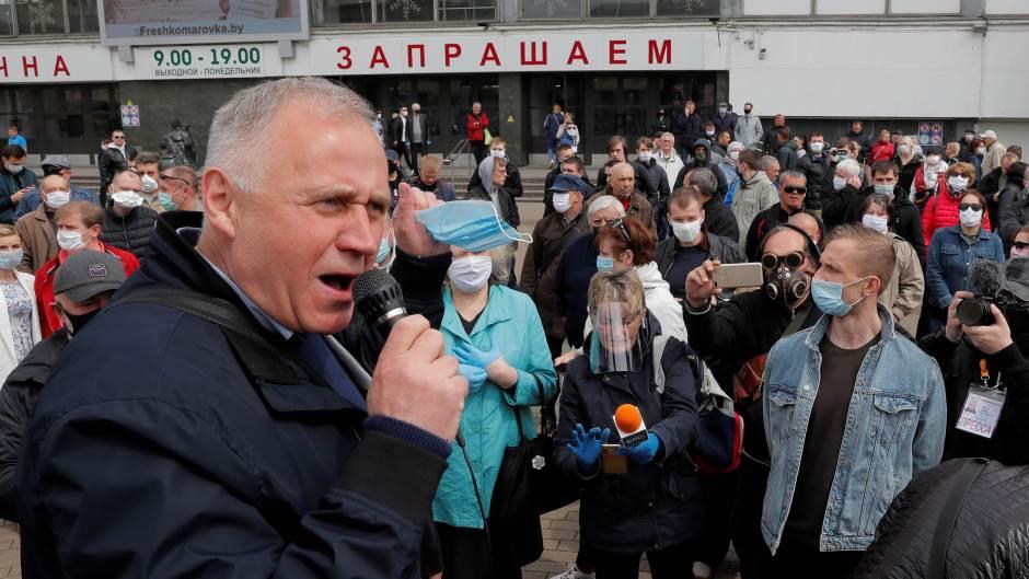 Beloruski opozicioni lider uhapšen zbog učešća na protestu