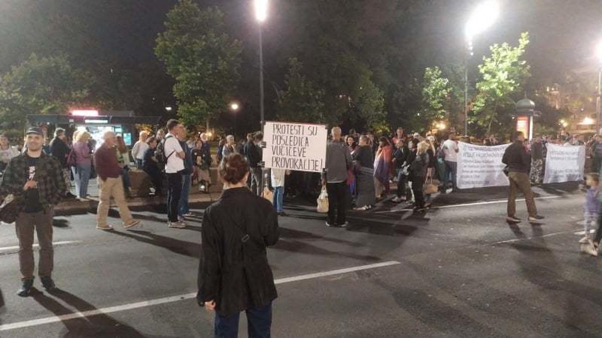 PROTEST ISPRED SKUPŠTINE Demonstranti se okupili i 12. dana, obustavljen saobraćaj