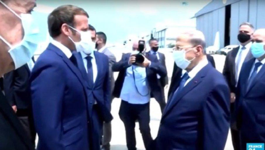 ПОДРШКА ПРЕДСЕДНИКА ФРАНЦУСКЕ ЛИБАНУ: Макрон стигао у Бејрут (ВИДЕО)
