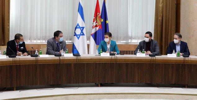 Brnabić s predstavnicima Izraelskog nacionalnog koledža